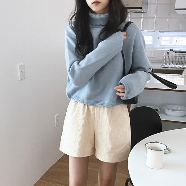 realcoco-♥NEW10%할인♥플론 크롭 터틀니트(데일리/가을/꾸안꾸)♡韓國女裝上衣