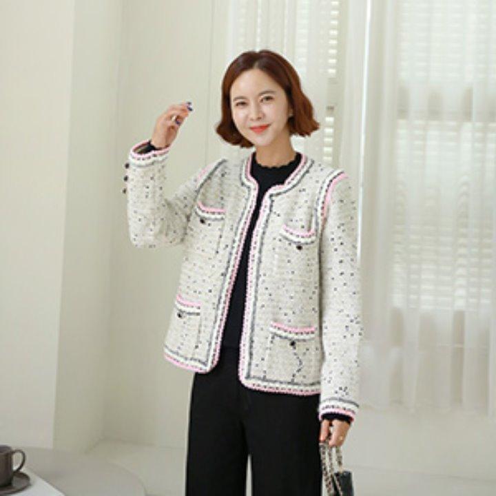 lemite-딸기우유 라인자켓♡韓國女裝外套