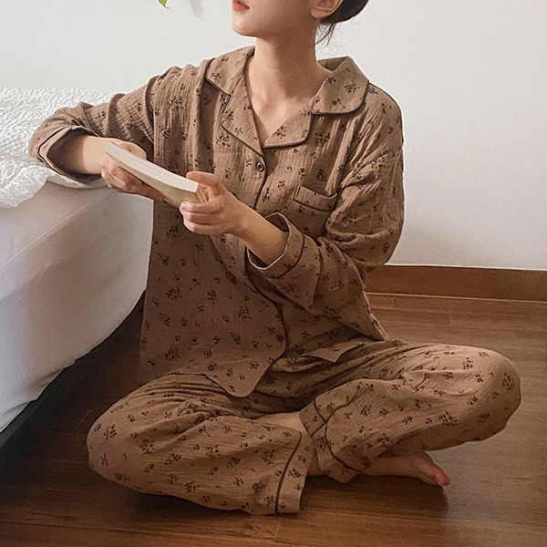 realcoco-♥NEW10%할인♥[my own time]쉐어 플라워 잠옷세트(홈웨어/파자마)♡韓國女裝套裝