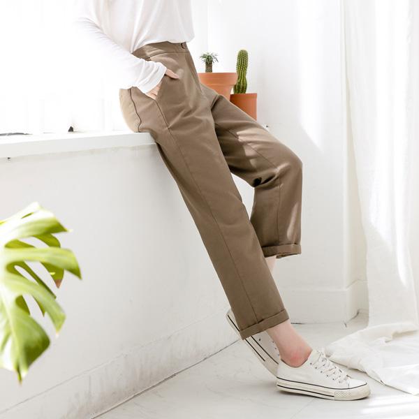 misscandy-[no.21129 반밴딩 스판혼방 코튼팬츠]♡韓國女裝褲