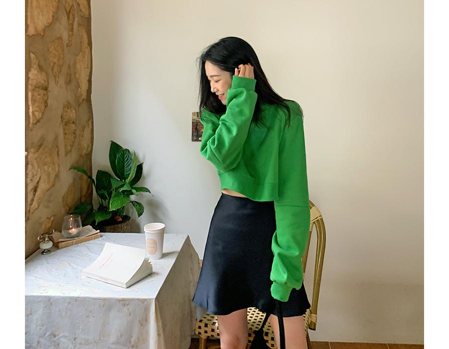 frombeginning-캔디 코튼크롭맨투맨 (3color)♡韓國女裝上衣