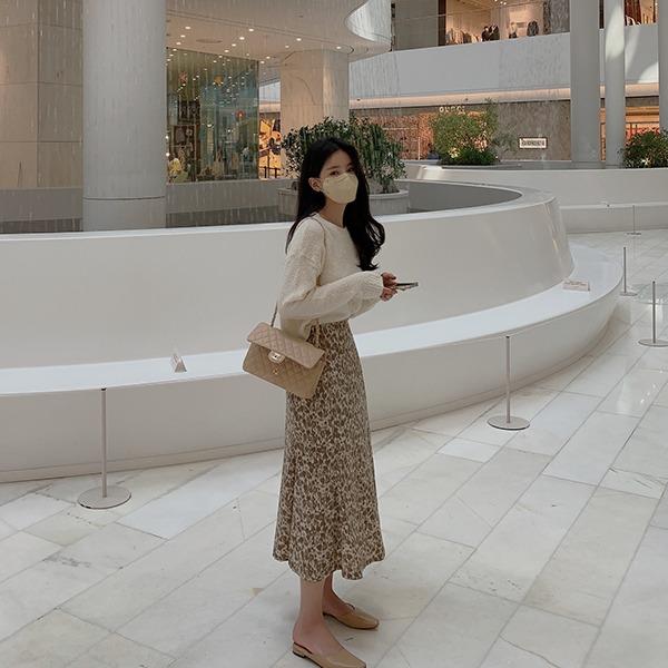 benito-[made]엔르 플레어 밴딩 스커트 신상/패턴/A라인/플레어스커트/밴딩/플레어/밴딩스커트/베스트/간절기/가을여성/데일리♡韓國女裝裙