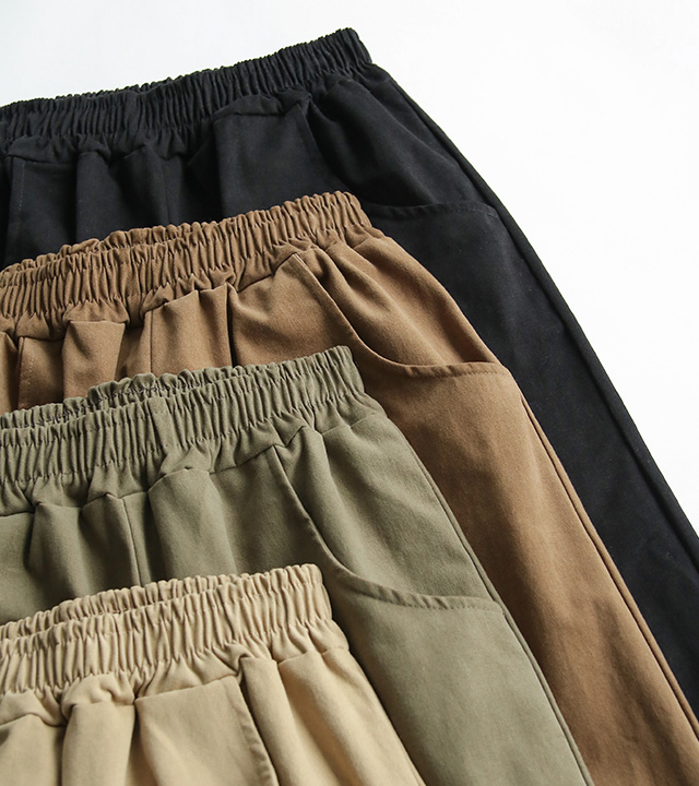 roompacker-룸페커 [스노 피치기모 와이드 코튼 팬츠]♡韓國女裝褲