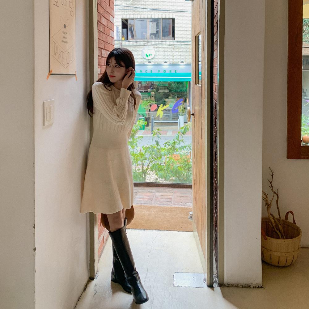cherrykoko-[로딘 미니 니트원피스]♡韓國女裝連身裙