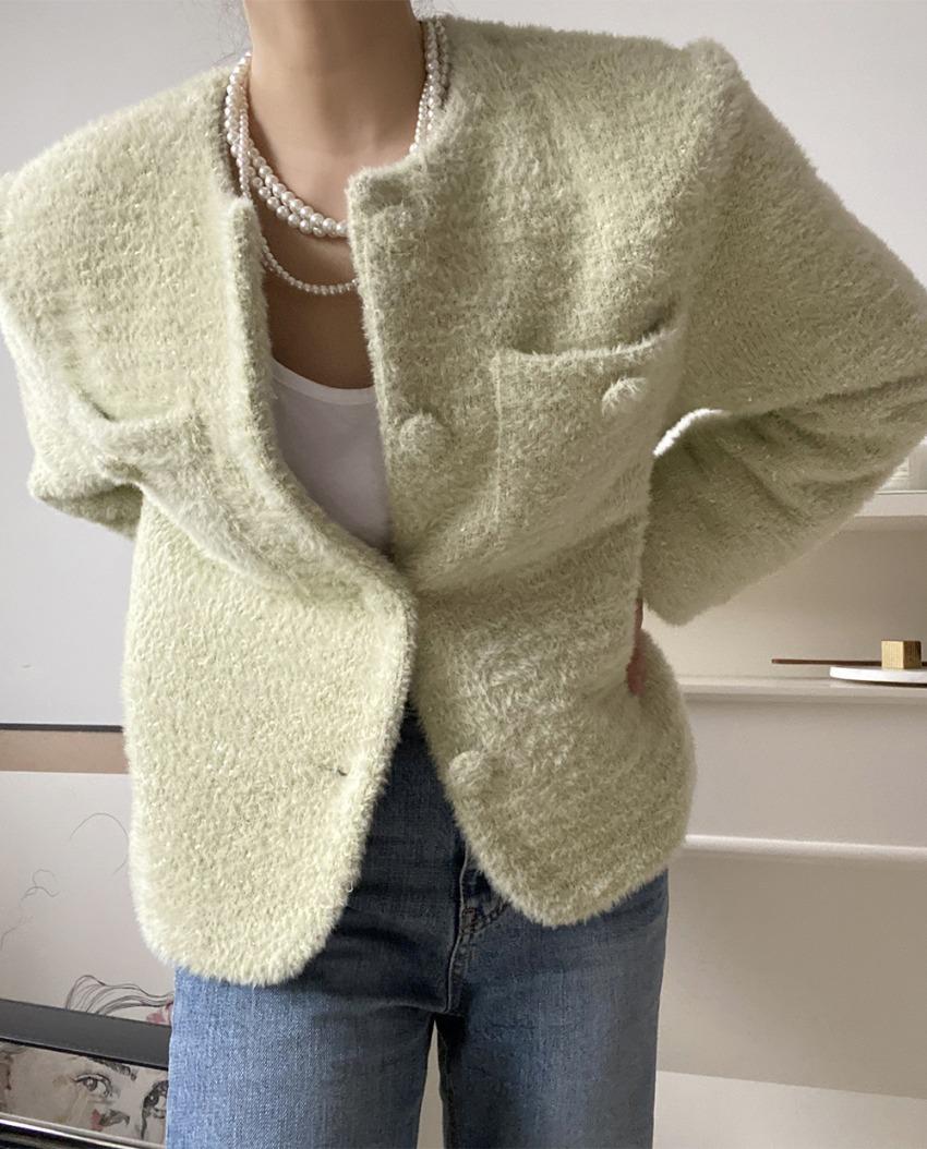 myclassy-Velo soft fur jacket *[green]♡韓國女裝外套
