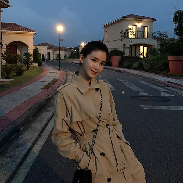 benito-[made]  #미입금수량OPEN 웨버 데일리 트렌치 코트신상/베스트/트렌치/가을/간절기/기본/무지/롱/여성/데일리♡韓國女裝外套