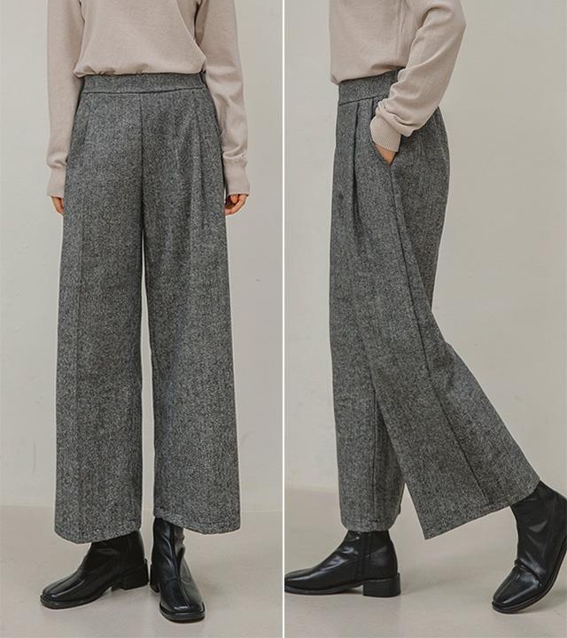 roompacker-룸페커 [리드 헤링본 울 팬츠]♡韓國女裝褲