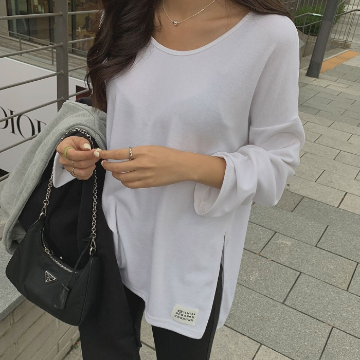 theresheis-포데스 트임 티셔츠♡韓國女裝上衣