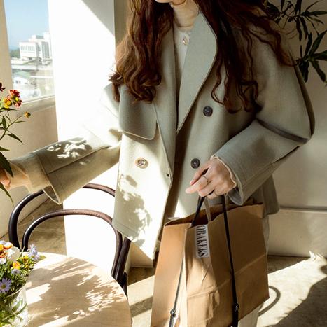 leelin-[로이츠 이슈라인 백포인트 코트[size:F(55~66)]]♡韓國女裝外套