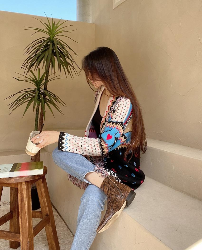 myclassy-ethnic tassel cardigan♡韓國女裝外套