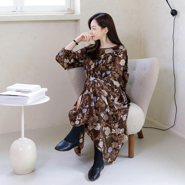 misscandy-[no.21149 로즈플라워 스트링 롱원피스]♡韓國女裝連身裙