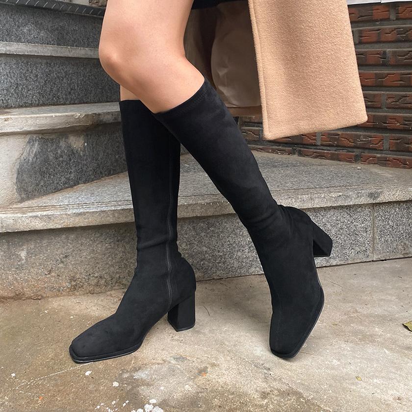 sappun-딜리스 스판 롱부츠 (6.5cm)♡韓國女裝鞋