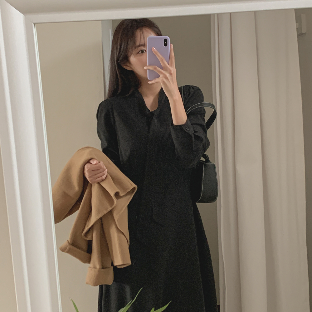 cherrykoko-[[madekoko] 모네 타이 원피스]♡韓國女裝連身裙