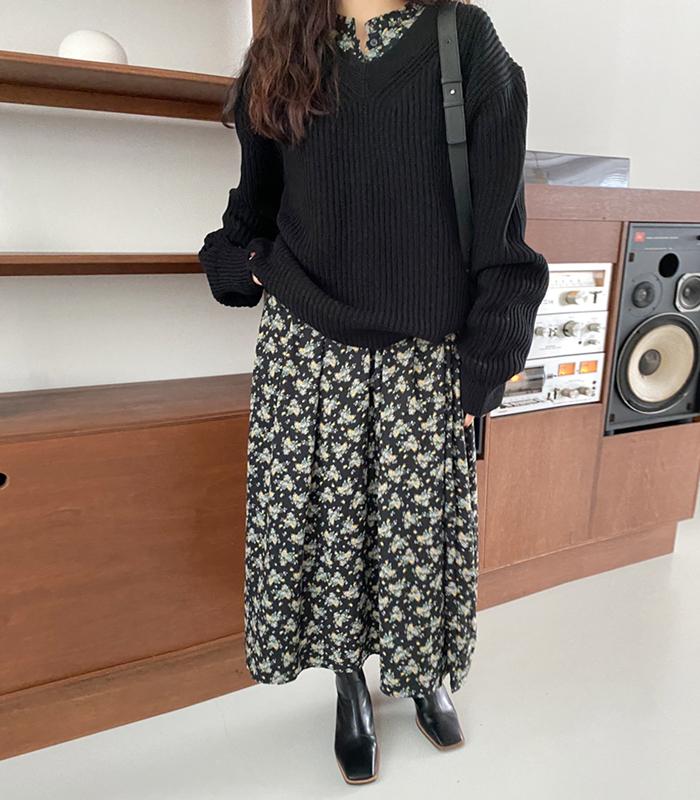sibuya-[컬러 하찌 브이 nt (남녀 공용)]♡韓國女裝上衣