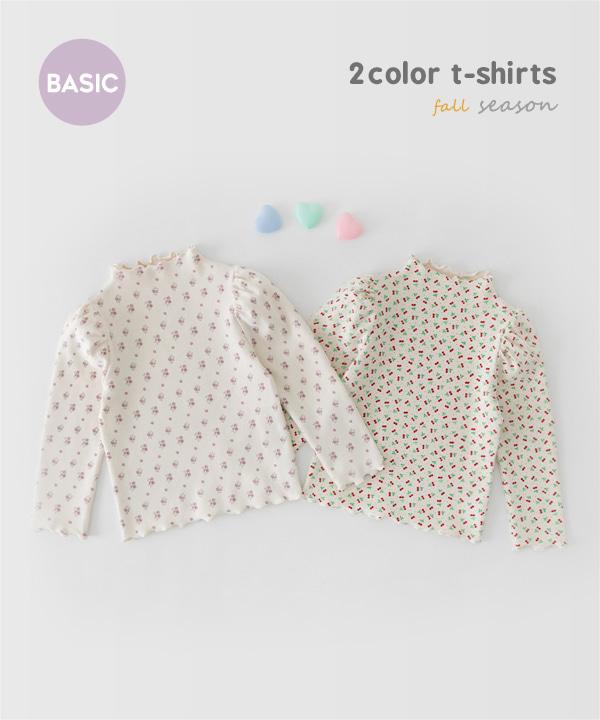 harukids-밀크패턴웨이브티[티셔츠BDJ77]♡韓國童裝上衣