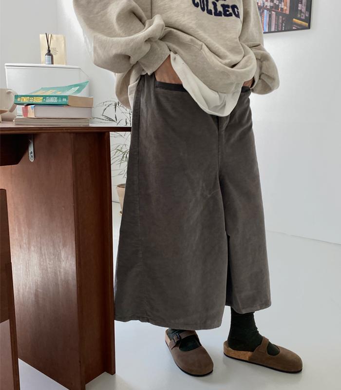 sibuya-[톤온톤 버튼 코튜로이 pt]♡韓國女裝褲