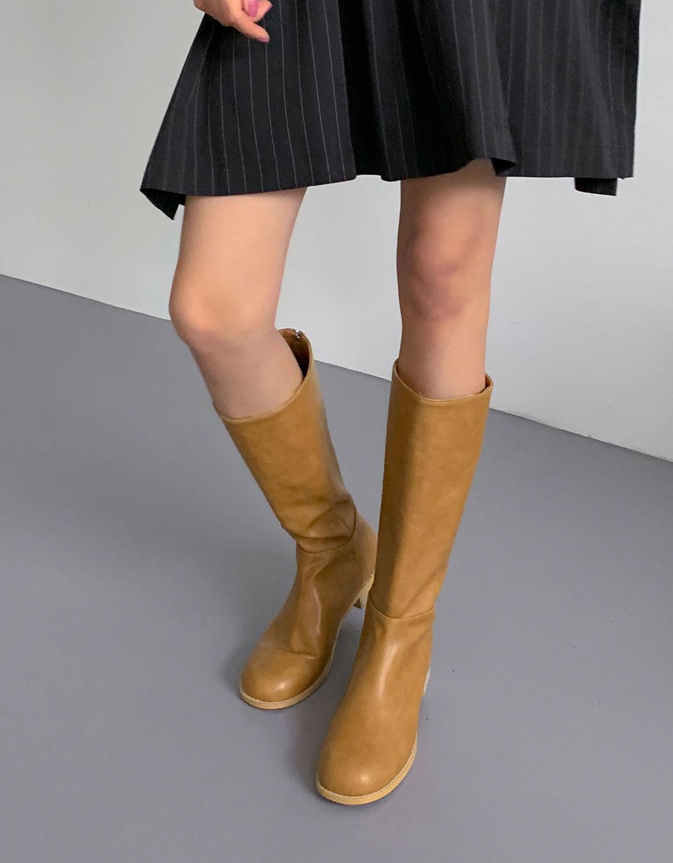 blackup-칼런즈 라운드 롱부츠♡韓國女裝鞋
