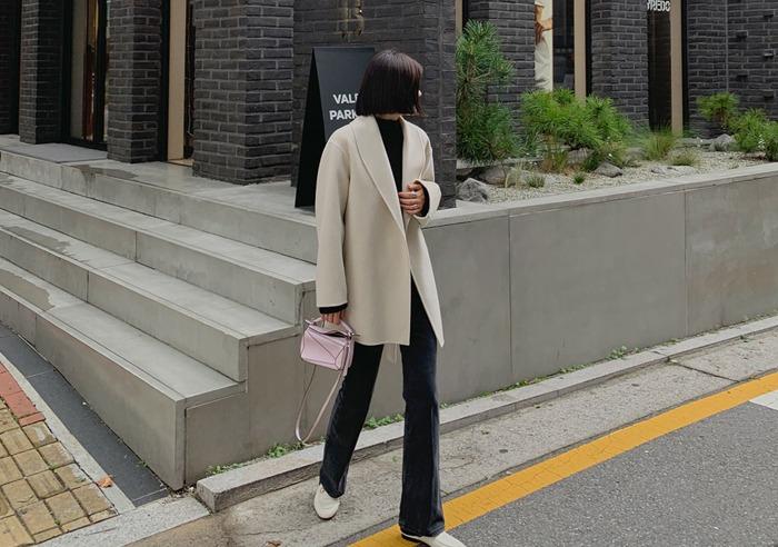 prostj-[made prostj] 엔트리 숄 하프 코트 (2colors)♡韓國女裝外套