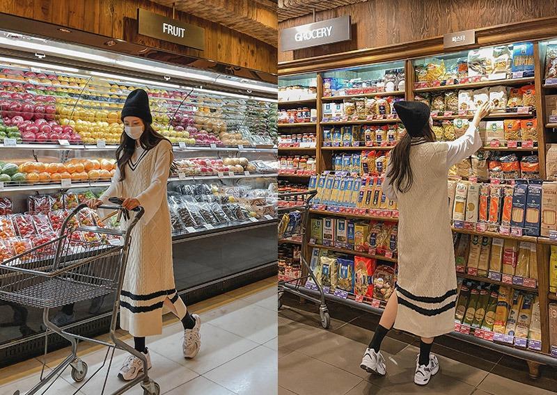 maybins-엔폴 꽈배기 베스트 원피스♡韓國女裝連身裙