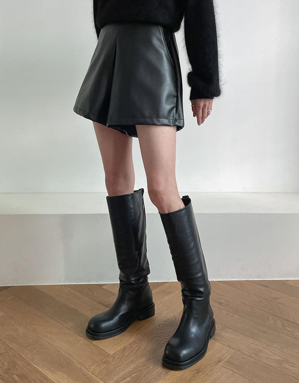 blackup-더바인 레더 숏팬츠♡韓國女裝褲