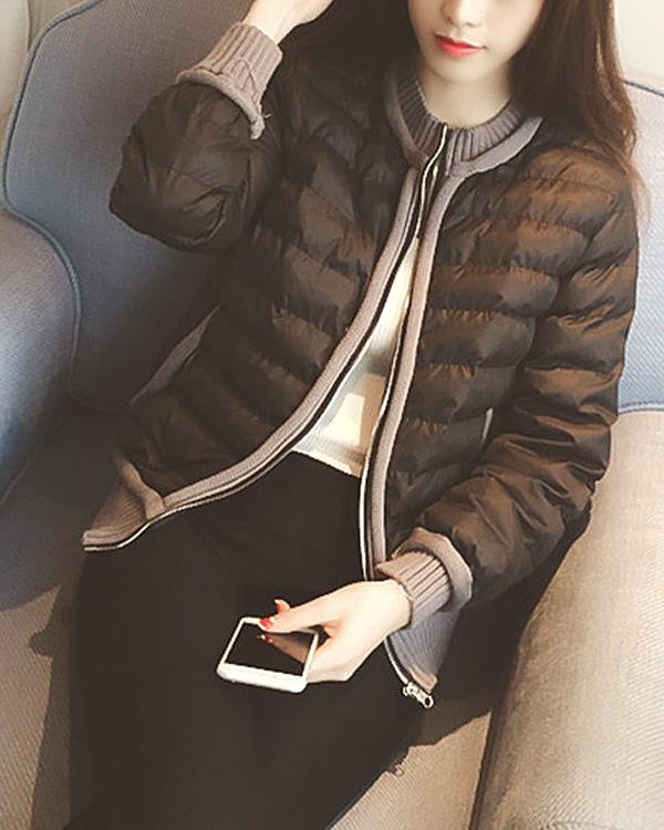 shehj-[케리므 니트 슬림 패딩 자켓_웰론]♡韓國女裝外套