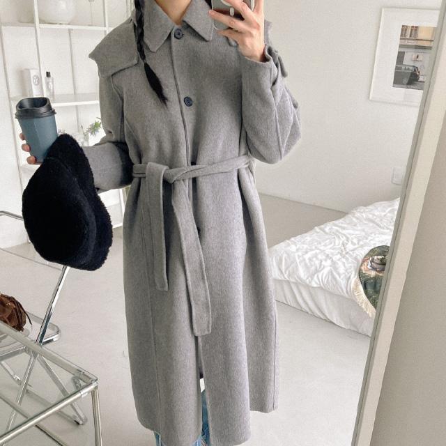banharu-반하루[타디 핸드메이드 후드롱코트]♡韓國女裝外套