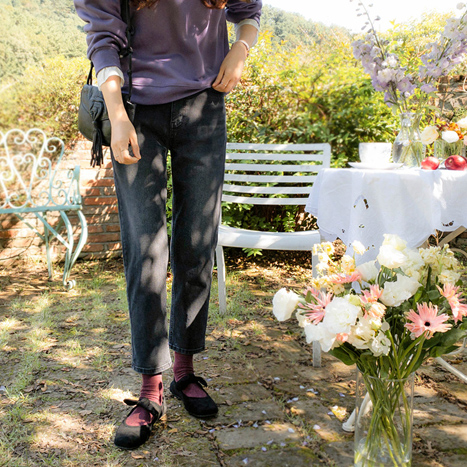 leelin-[썸데이 엣지라인 신축 기모팬츠[size:S,M,L]]♡韓國女裝褲