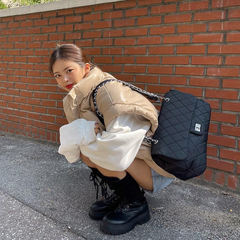 liphop-오버레더패딩베스트♡韓國女裝外套