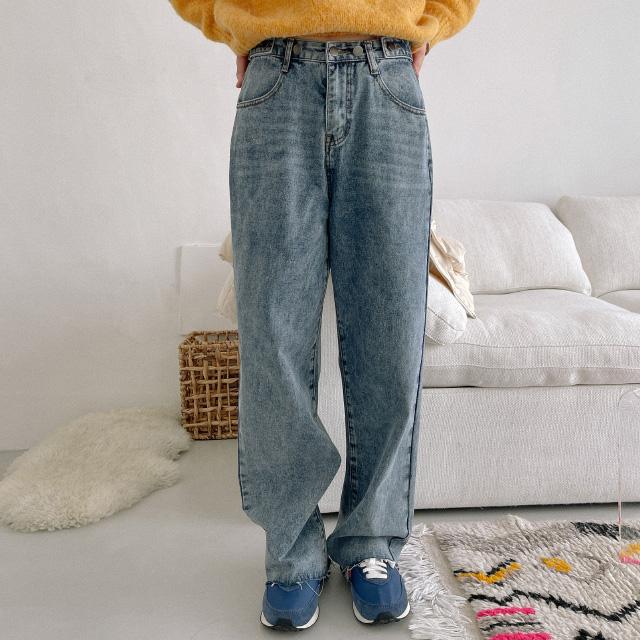 banharu-반하루[트루 비조 와이드데님팬츠]♡韓國女裝褲