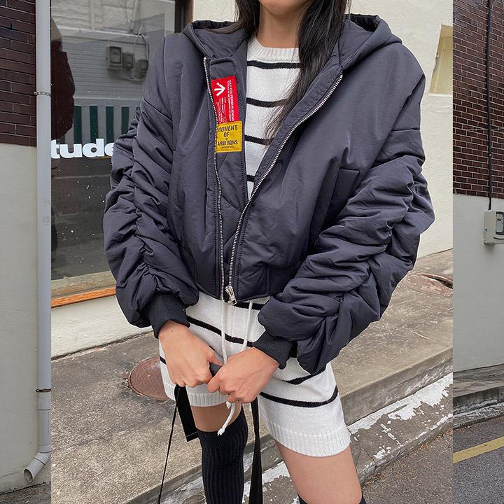 lagirl-[라걸BEST] 패치투웨이크롭항공점퍼-jp♡韓國女裝外套