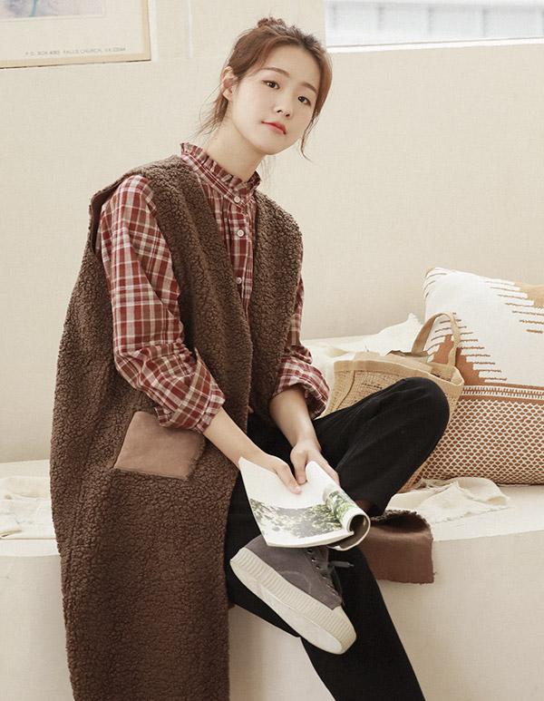 goroke-[뽀글롱조끼*2c]♡韓國女裝外套