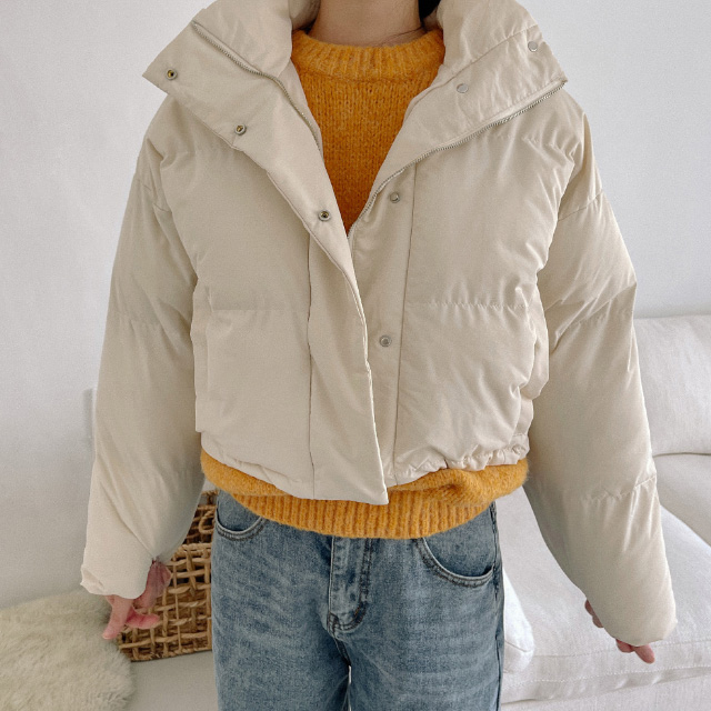 banharu-반하루[리틀 하이넥 웰론숏패딩]♡韓國女裝外套