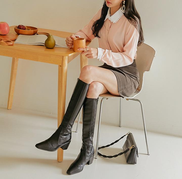 common-unique-런디 레이스 골드 버튼 블라우스♡韓國女裝上衣