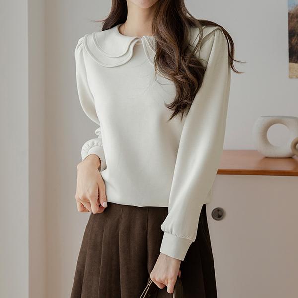canmart-[블리러플카라티셔츠 C101346]♡韓國女裝上衣