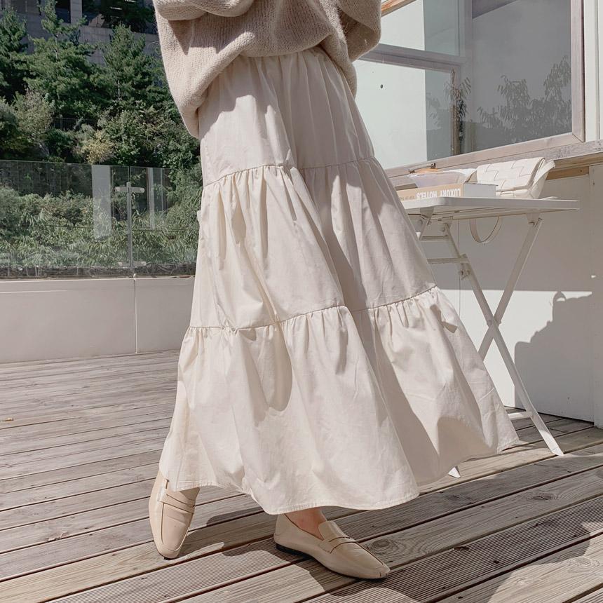envylook-셔린바스락밴딩캉캉롱스커트♡韓國女裝裙