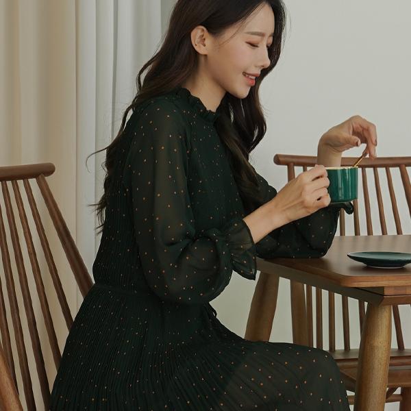 canmart-[한나도트주름원피스 C101438]♡韓國女裝連身裙