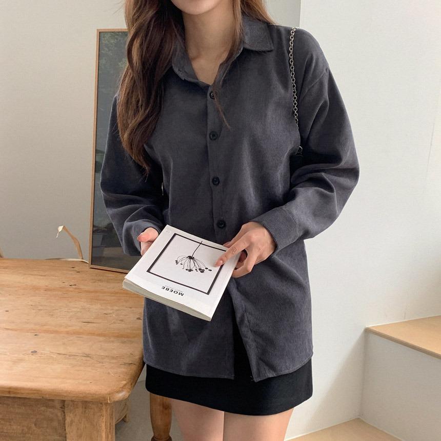 envylook-루즈코듀로이셔츠♡韓國女裝上衣