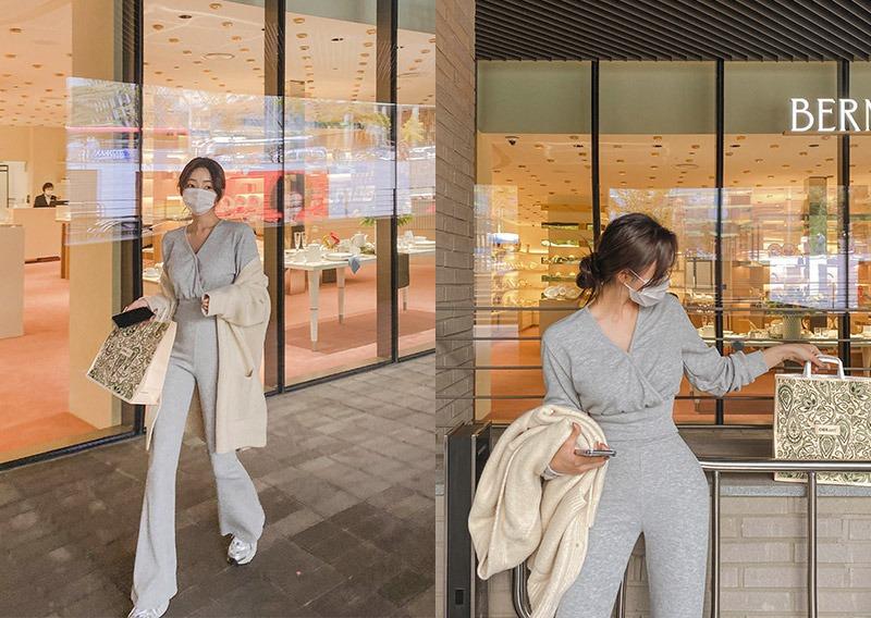 maybins-바젤 티셔츠&팬츠set♡韓國女裝套裝