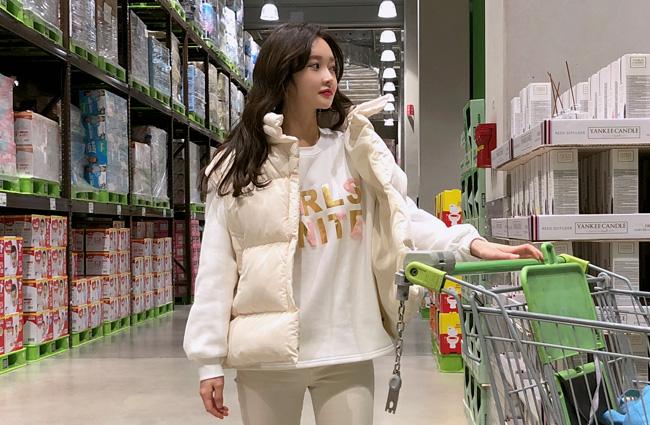 minsshop-하이넥 패딩조끼 (주문대박♥BEST)♡韓國女裝外套