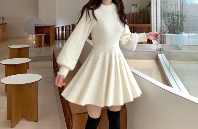 minsshop-(울혼방)세상 포근 따뜻 원피스 (주문폭주!)♡韓國女裝連身裙