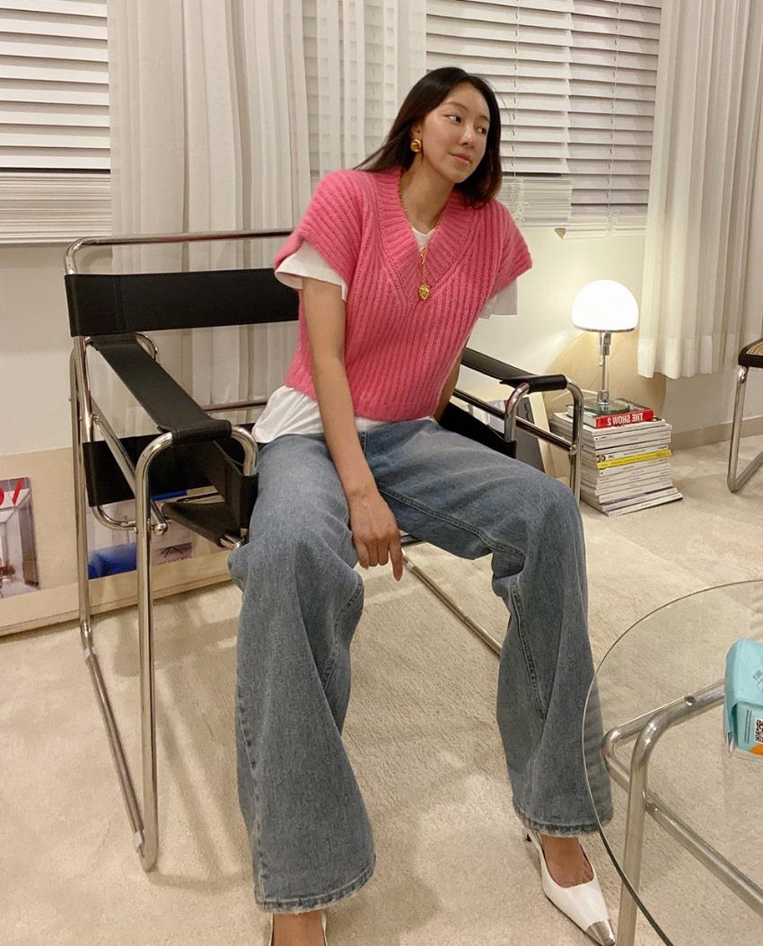myclassy-rose knit vest♡韓國女裝上衣