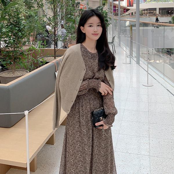 benito-[made]Be label 마가렛 스모크 원피스 신상/베스트/간절기/가을여성/데일리♡韓國女裝連身裙