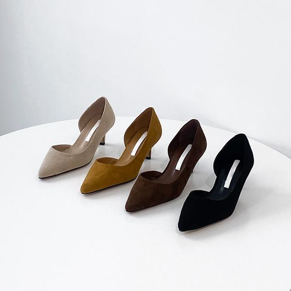 benito-벨티아 스웨이드 미들 힐 5cm 신상/힐/미들힐/스웨이드/스웨이드힐/스웨이드미들힐/간절기/베스트/여성/데일리/연말/겨울♡韓國女裝鞋