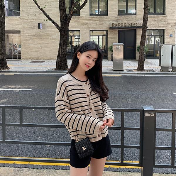 benito-해리슨 스트라이프 가디건 신상/가디건/니트가디건/베스트/여성/데일리♡韓國女裝外套