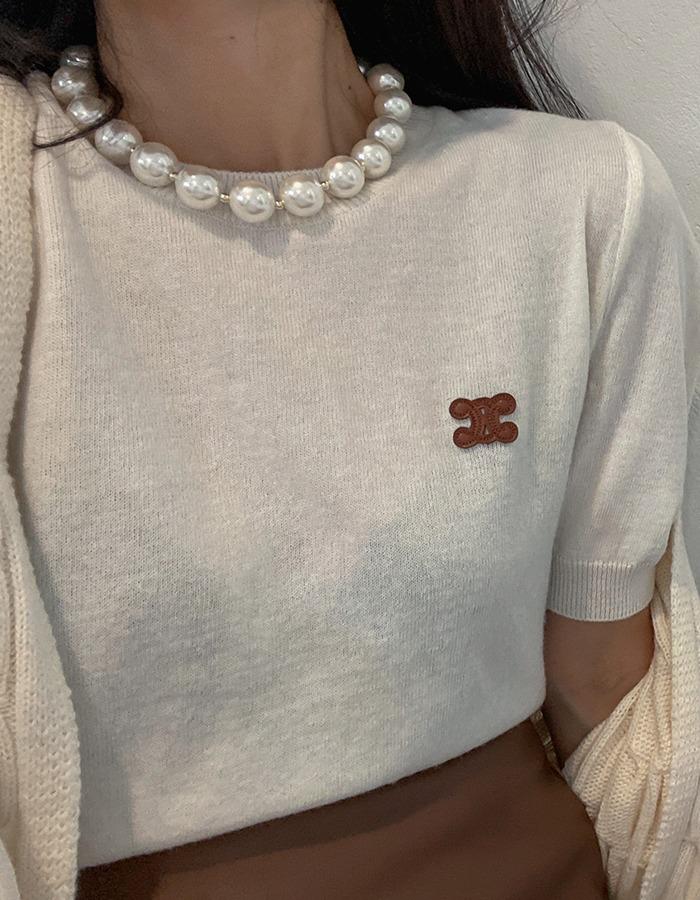 maymay-왕진주 목걸이♡韓國女裝飾品