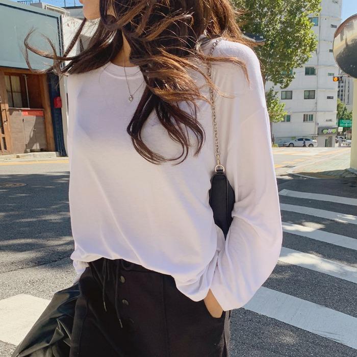 theresheis-카일드 롱 티셔츠♡韓國女裝上衣