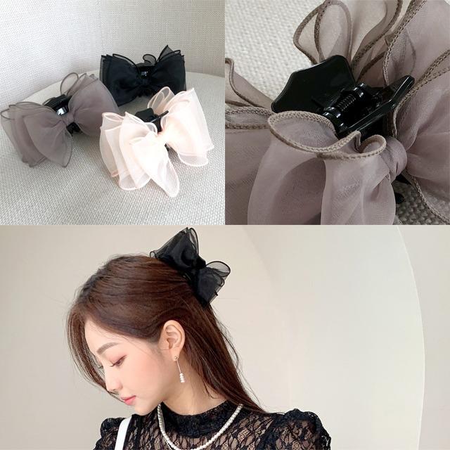 sweetglam-유어슨 리본 집게핀♡韓國女裝飾品