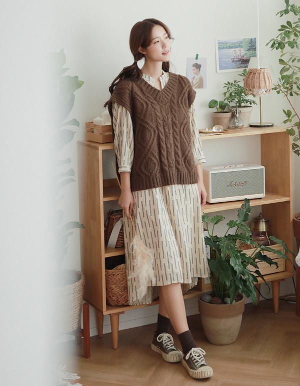 goroke-[모헤어 박스조끼*3c]♡韓國女裝外套