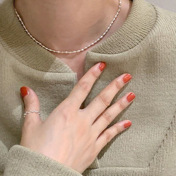 browncode-silver pearl N(silver 92.5)♡韓國女裝飾品