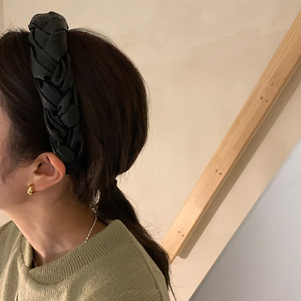 browncode-leather headband♡韓國女裝飾品
